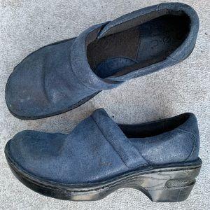 Born BOC 7 38 Margaret Leather Clog Blue Slip On